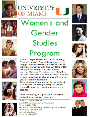 Image of the WGS Fall 2018 course booklet